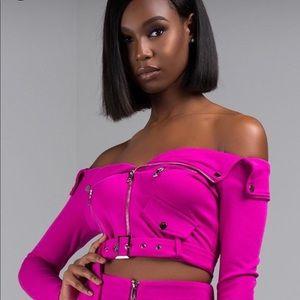 Hot pink jacket top
